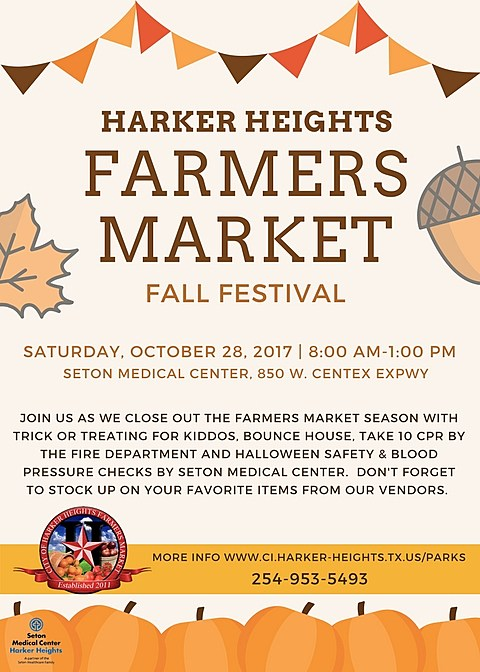 Harker Heights Farmers Market - Flyer used with permission